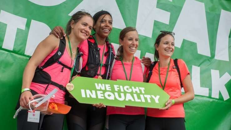 Oxfam Trail Walk 2021 banner