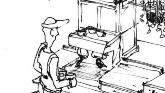 Komaf Koffie tekening