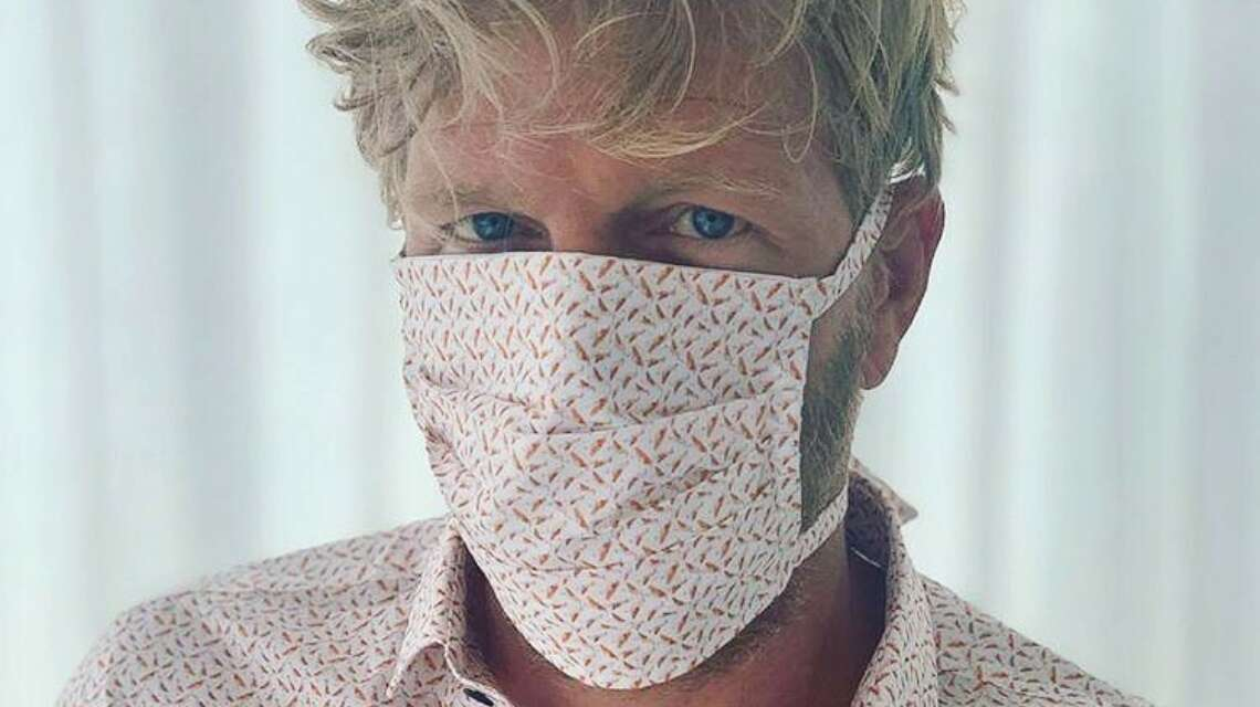 Mr Manchette hemd en masker